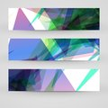 Vector banner set for your design abstract illustration Royalty Free Stock Image