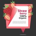 Vector Banner Strawberry Organic.