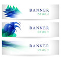 Vector banners collection with abstract multicolored backgrounds Royalty Free Stock Photo