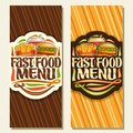 Vector banners for Fast Food Royalty Free Stock Photo