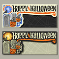 Vector banners for Halloween holiday