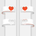 Vector banners with hearts illustration of Stock Photography