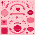 Vector banners and icons valentines day big set of on Royalty Free Stock Image