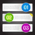 Vector banners with numbers illustration Stock Photo