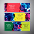Vector banners set with Abstract circles background. Royalty Free Stock Photo