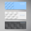 Vector banners and squares color set this is file of eps format Royalty Free Stock Image