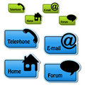 Vector banners - telephone, email, home, forum Royalty Free Stock Photos