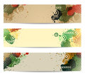Vector Banners with watercolor paint splash Royalty Free Stock Photos