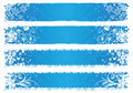 Vector banners for winter Royalty Free Stock Photos