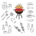 Vector barbecue party elements Stock Photo