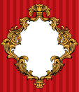 Vector baroque acanthus leaves frame