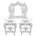 Vector Baroque Dressing Table