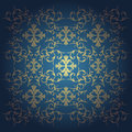 Vector baroque flowers background blue with Royalty Free Stock Photos