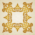 Vector baroque frame in victorian style element for design you can place the text an empty it can be used for decorating Stock Photography