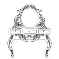 Vector Baroque furniture Dressing Table