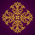 Vector baroque ornament in victorian style ornate element for design toolkit for designer it can be used for decorating of wedding Royalty Free Stock Images