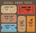 Vector Baseball invite Tickets
