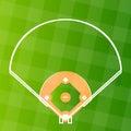 Vector baseball regular field Royalty Free Stock Photo