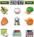 Vector baseball / softball icon set Royalty Free Stock Photo
