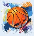 Vector basketball Royalty Free Stock Photo