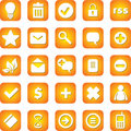 Vector beautiful icon set Stock Photography
