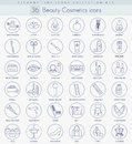 Vector beauty and cosmetics outline icon set. Elegant thin line style design