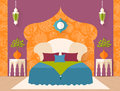 Vector bedroom in Arabic style Royalty Free Stock Photo