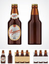 Vector beer bottle icon Royalty Free Stock Photo
