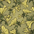 Vector bell-flowers pattern Stock Photography