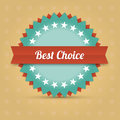 Vector best choice label illustraton of Royalty Free Stock Image