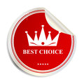 Vector Best choice label sticker Stock Photography