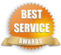 Vector best service award Stock Photography
