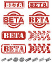 Vector Beta Stamps Royalty Free Stock Photo