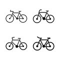 Vector - Bicycle outline icon, modern minimal flat design style, bike illustration