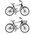 vector bicycles art Royalty Free Stock Photo