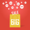 Vector big sale promotion discount background bag Royalty Free Stock Image