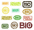 Vector bio stamps Stock Images