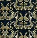 stock image of  Vector bird peacock pattern seamless pattern dark gold