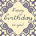 Vector birthday card neutral for mens Royalty Free Stock Image