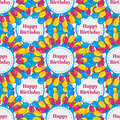 Vector birthday seamless pattern background with colorful balloons Royalty Free Stock Photo