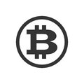 Vector bitcoin icon. Cryptocurrency symbol.