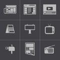Vector black advertisement icons set this is file of eps format Royalty Free Stock Images