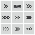 Vector black arrows icons set this is file of eps format Stock Images
