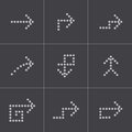 Vector black arrows icons set this is file of eps format Royalty Free Stock Photography