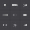 Vector black arrows icons set this is file of eps format Stock Photos