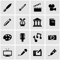 Vector black art icon set Royalty Free Stock Photo