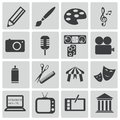 Vector black art icons set Stock Images