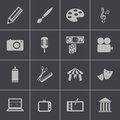 Vector black art icons set this is file of eps format Stock Photography