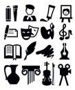 Arts icon Royalty Free Stock Photo