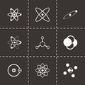 Vector black atom icon set Royalty Free Stock Photo